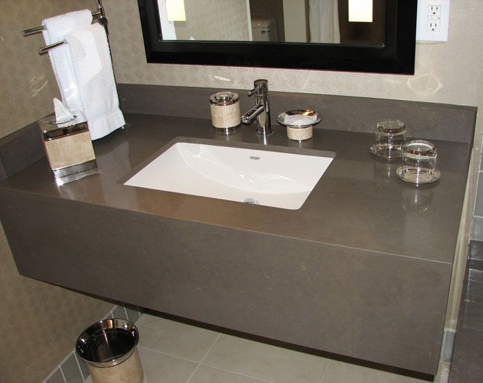 Awesome Websites Quarzt Cement grey vanity top with skirt Vanity tops Pinterest Gray vanity Cement and Vanities