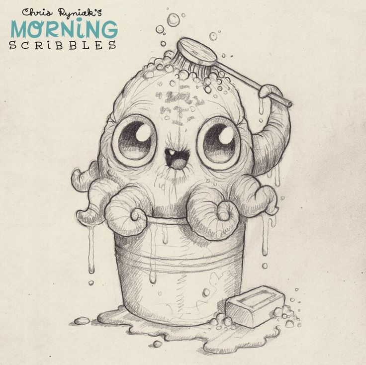 Cute and funny art by Chris Ryniak. Artwork of Chris Ryniak. He LOOOVES his little monster creatures. No one can do what he can! I am so in love with his style! Morning Scribbles are the best. Follow Chris Ryniak on facebook and Instagram. ;) http://chrisryniak.com/ https://www.facebook.com/pages/Chris-Ryniak/68169468627