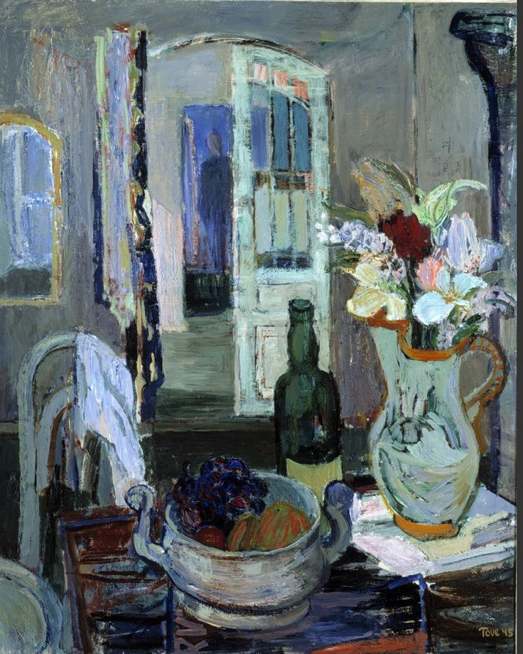 Tove Jansson (Finland 1914-2001) Still life (1945) oil on canvas