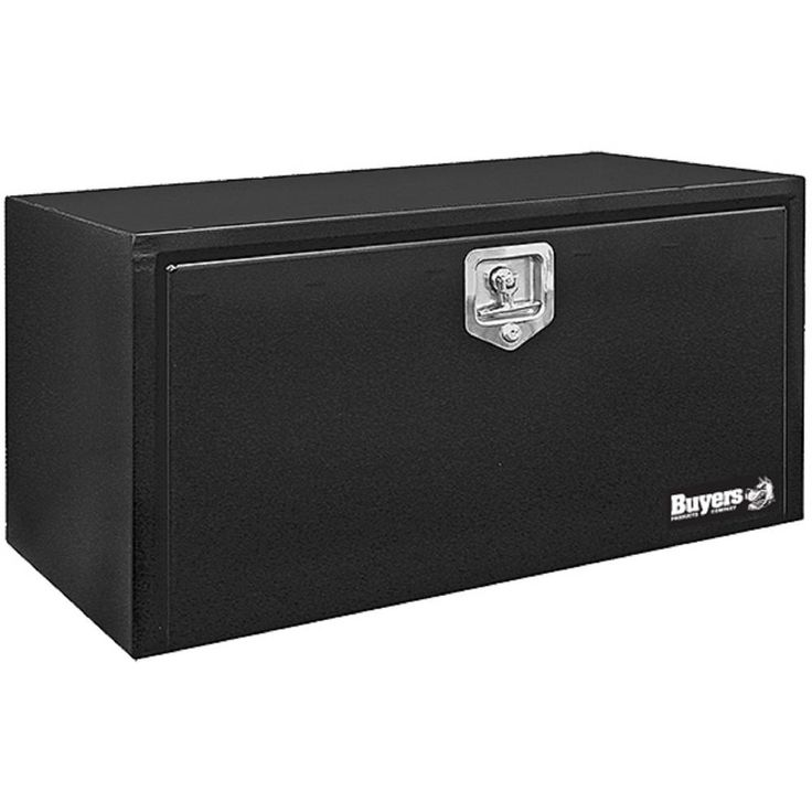 Buyers Products Company 30 in. Black Steel Underbody Tool Box with T-Handle Latch