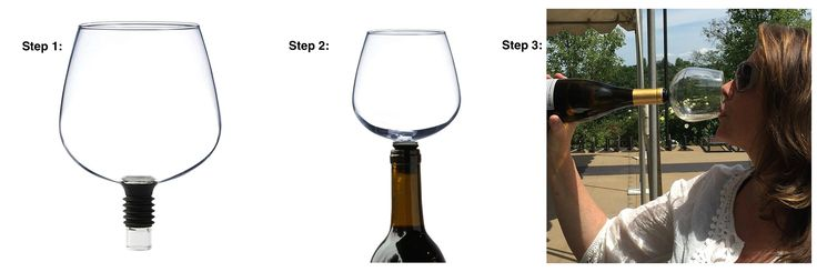 This New Gadget Turns Your Wine Bottle Into A Huge Wine Glass