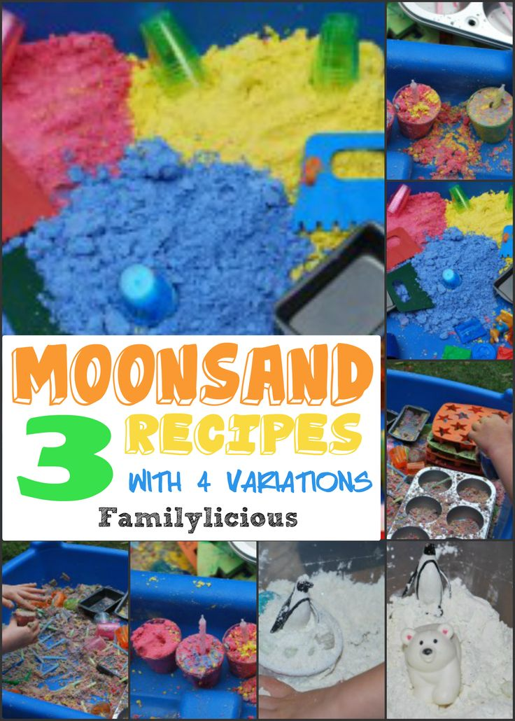 Moon Sand Recipes with Variations