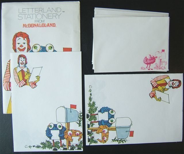 Vintage Ronald McDonald sticker Mod Kids Are Special At McDonald's Rare