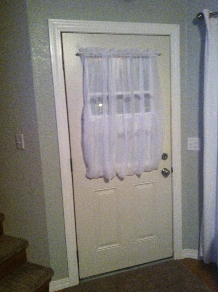 2 Magnetic Tension Rods And A Sheer For Privacy On Front