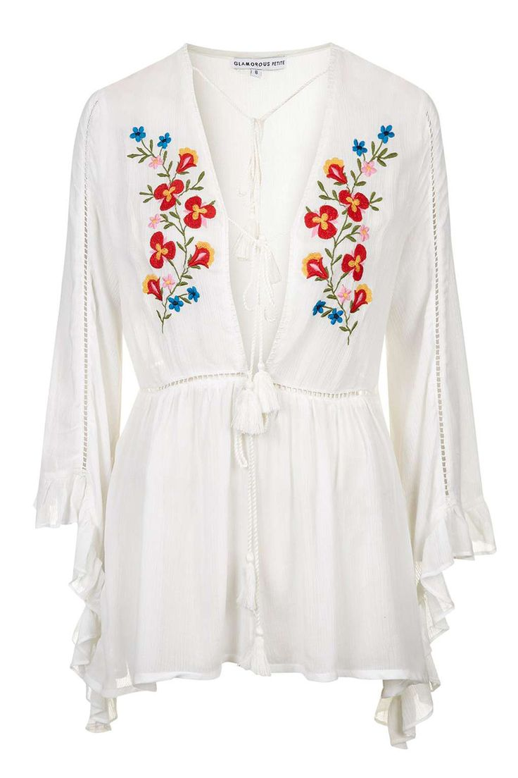 13 vestidos para soportar el calor. White dress with colourfull embroidery (beach: + bikini+flat sandals+hat; night: +wedges+shoulder bag). Summer dresses Trends 2016