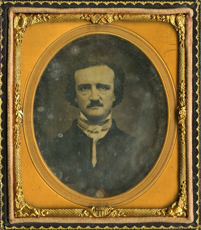 An 1848 daguerreotype of Edgar Allan Poe was used as the model for a famous engraving of the writer, and is housed with an envelope written ...