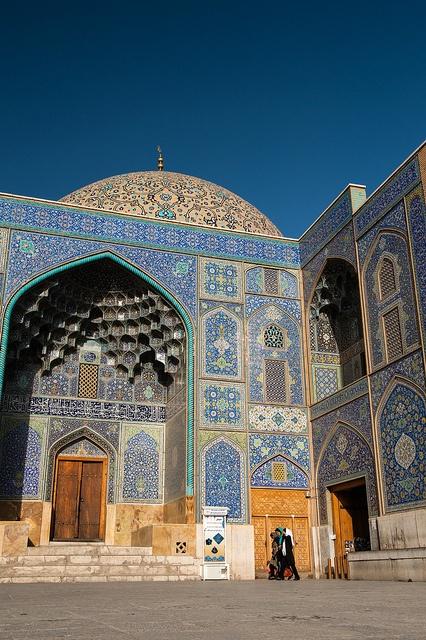 Entrance portal of Sheikh Lotfollah Mosque, Esfahan, Iran