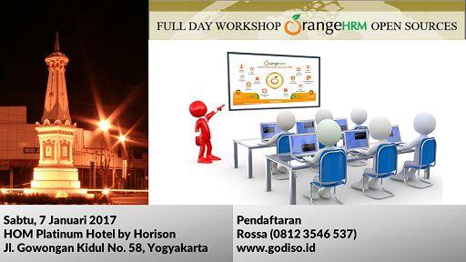 Training OrangeHRM, DI Yogyakarta, 7 Januari 2017