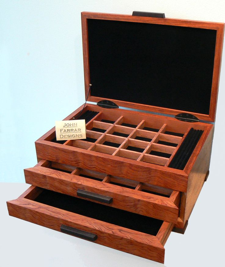 Amazing wood jewelry box by John Farrar