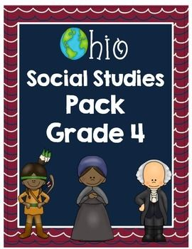 Ohio Social Studies Pack Grade 4- brings the new Ohio SS standards alive!  Highly rated by many Ohio teachers
