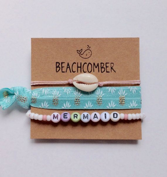 beach bracelets beachcomber jewelry mermaid by beachcombershop