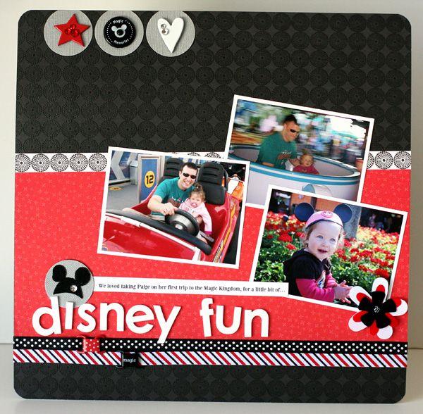 Layout: Disney Fun by Susan Weinroth