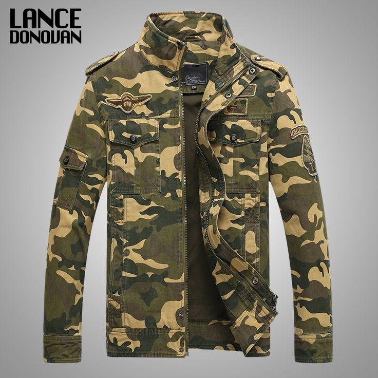Hombres de la chaqueta Militar de camuflaje Táctico del ejército casual fashion cazadoras