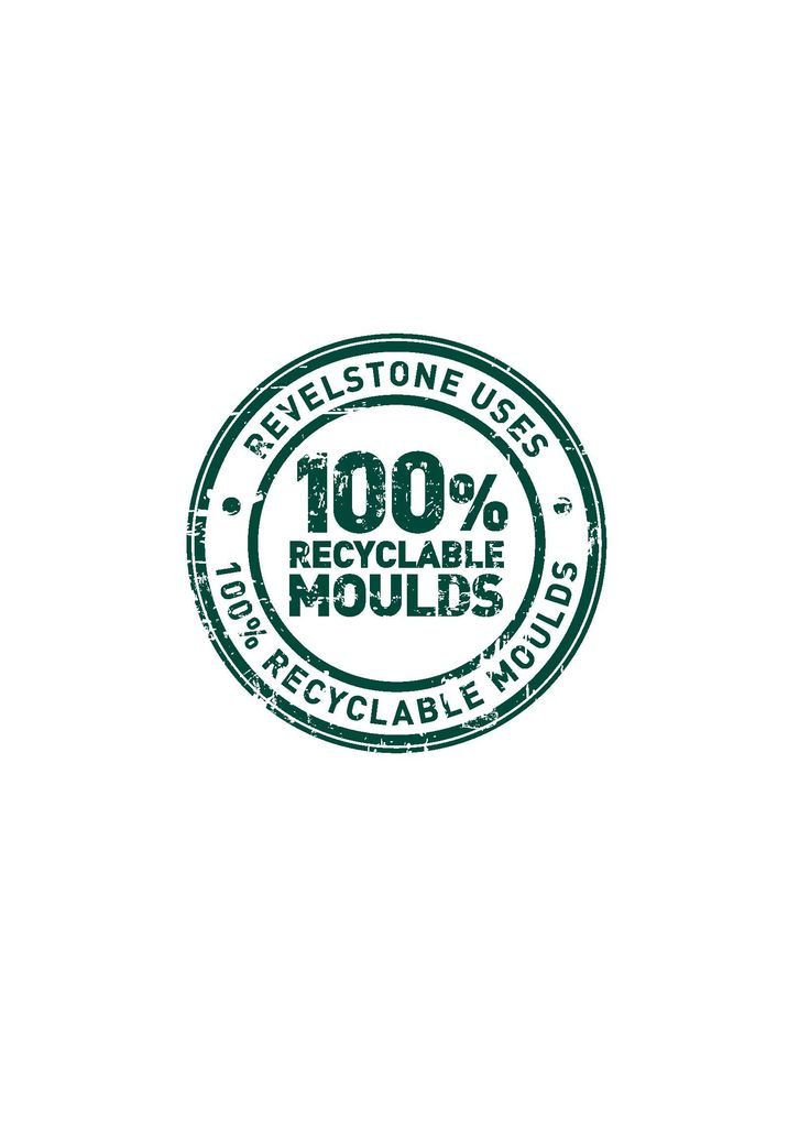 Revelstone is making a conscious effort to minimise our impact on the environment through sensible,sustainable and cost effective manufacturing. By recycling our old moulds we have little impact on the environment.