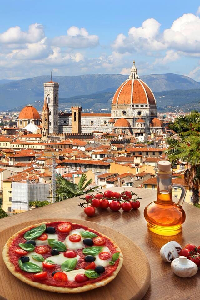 Florence, Italy and Pizza! YUM and BEAUTIFUL.