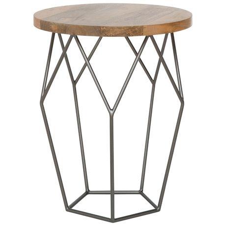 Aquarius Side Table 44cm Natural/Graphite