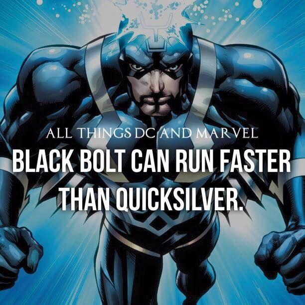 Quicksilver... Epic fail...Black Bolt