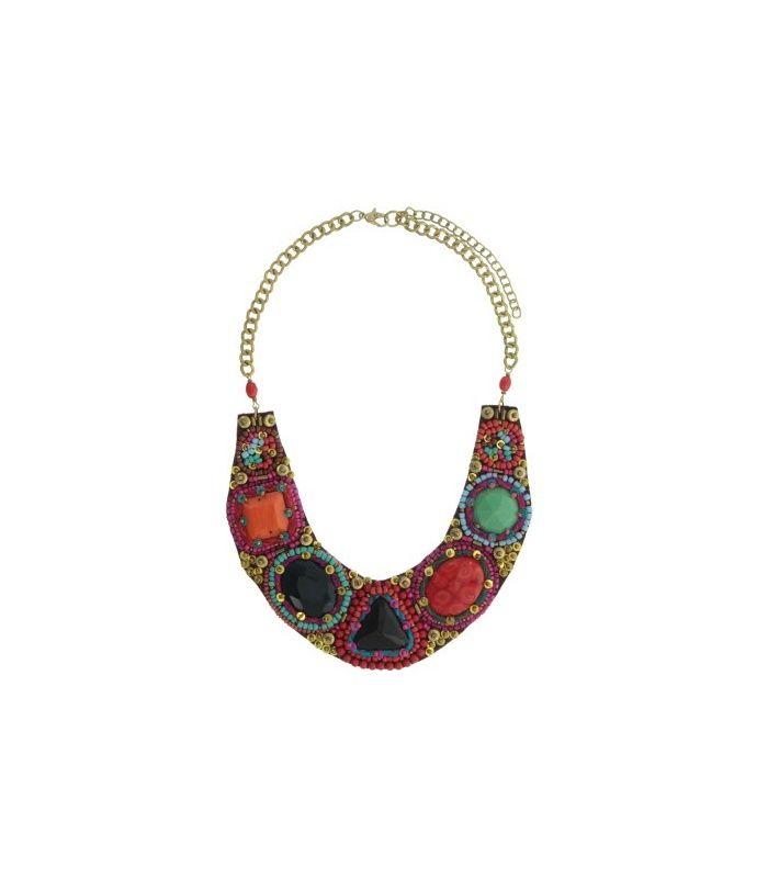 Gekleurde korte halsketting | Mooie halsketting koop je bij Azone | EAN: 8718189393548 | A-zone fashion