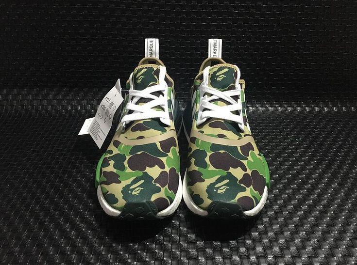 Authentic Adidas Originals NMD_R1 Runner Primeknit BAPE Walking Shoes DHL Free Shipping for Sportman_05