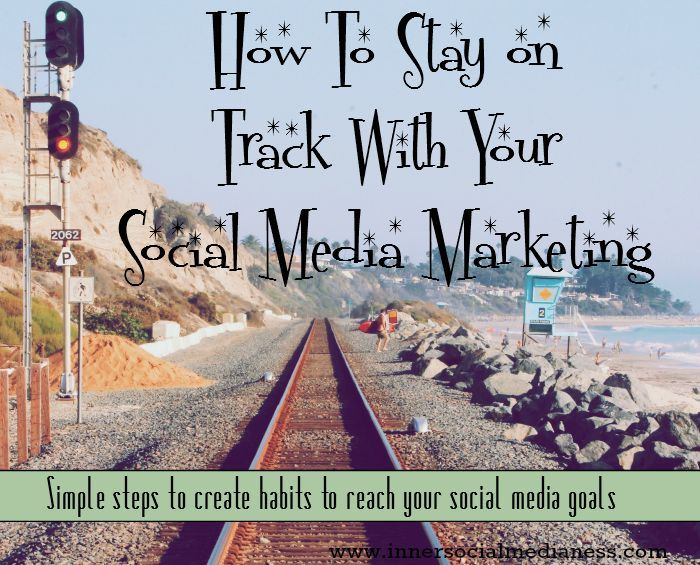 How to stay on track with your social media marketing - simple steps to create this cool process called a Habit Tracker to help you get more of your social media marketing done and increase your social presence.