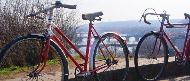 Historical bikes from communist era.