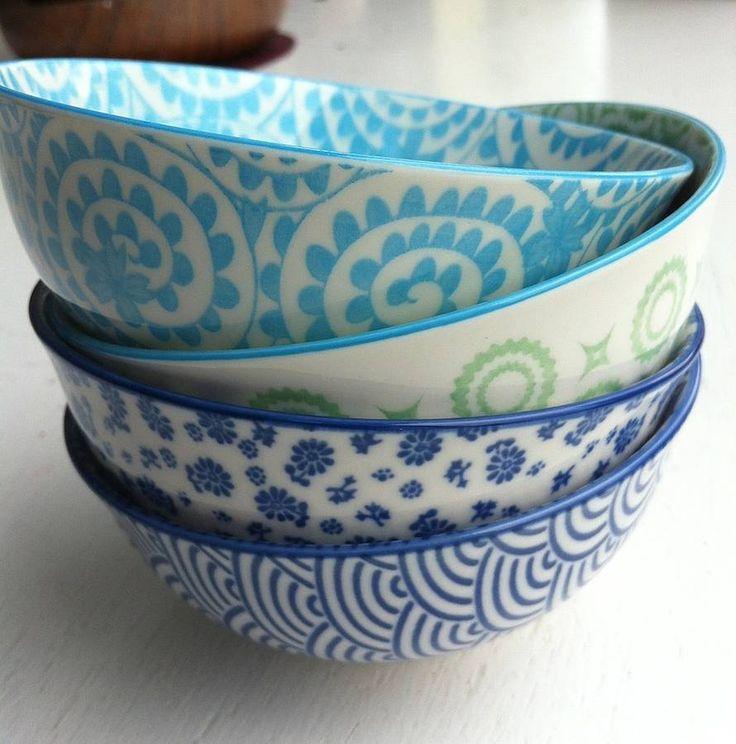 Set Of Four Rice Bowls