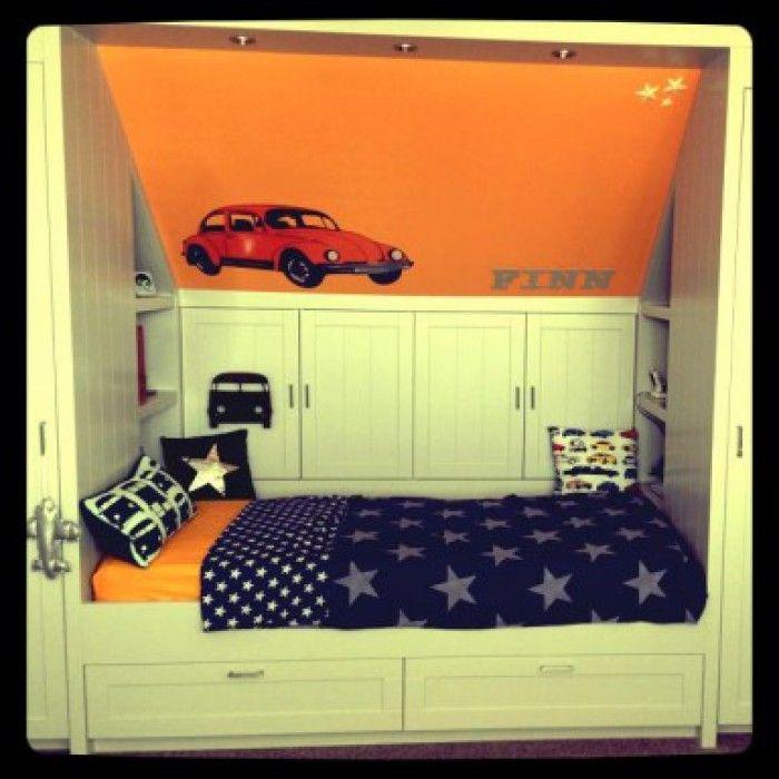 wat een gave kamer; de moderne versie van de bedstee!