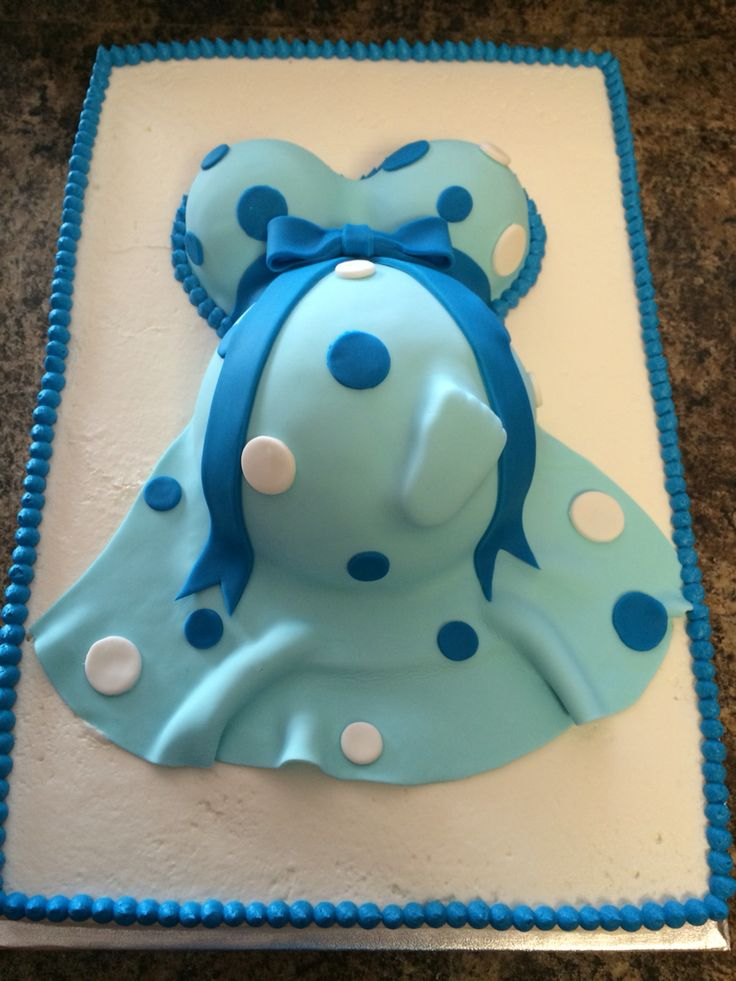 Baby boy shower cake- pregnant belly
