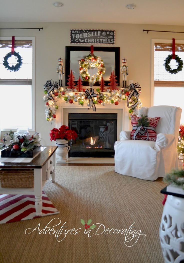 Adventures in Decorating: Our 2014 Christmas Mantel and Blog Hop ...