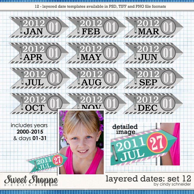 Cindy's Layered Dates: Set 12 by Cindy Schneider