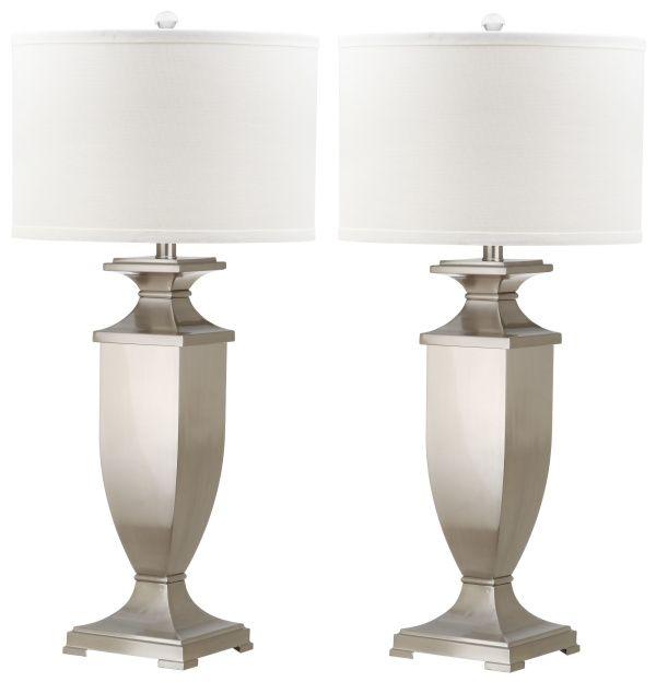 Safavieh Ambler 31 5 Inch H Table Lamp Nickel In 2021 Nickel Table Lamps Table Lamp Sets Metal Table Lamps