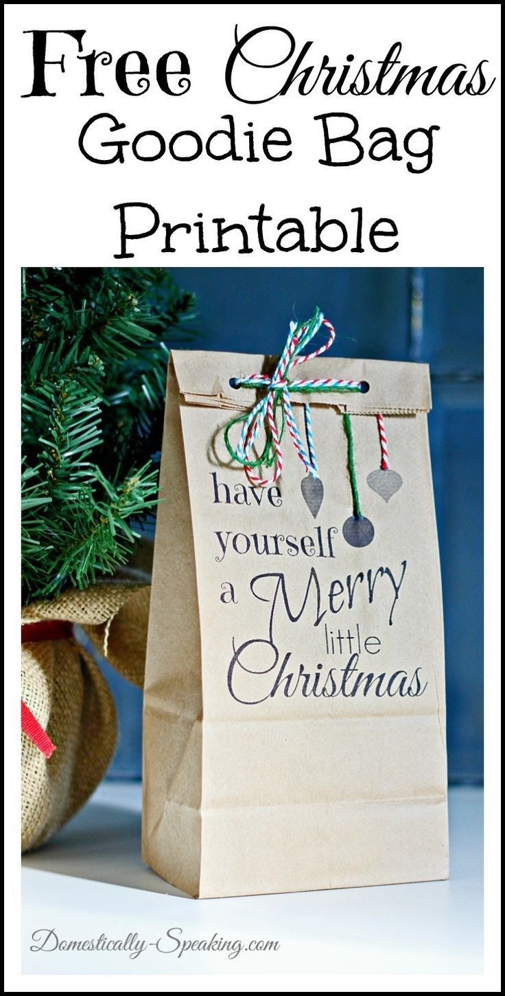 Have Yourself A Merry Little Christmas Bag Printable
