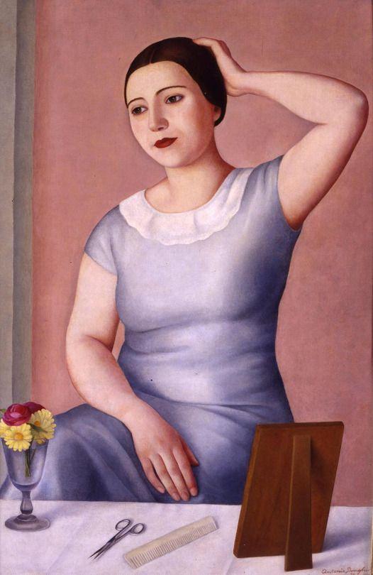Antonio Donghi, Donna alla toletta, 1930.