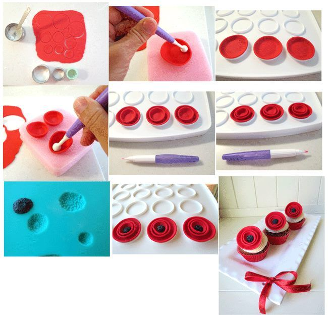 how to make poppies out of icing
