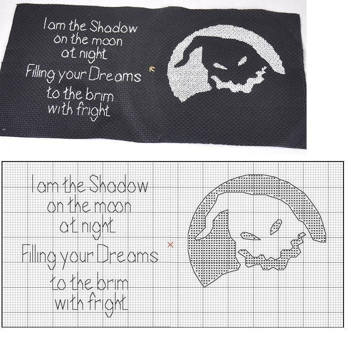 Nightmare Before Christmas Oogie Boogie Cross Stitch