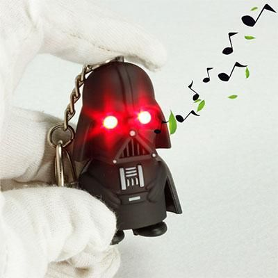 Star Wars Darth Vader Mini LED Light With Sound Action Figure Toy Keychain