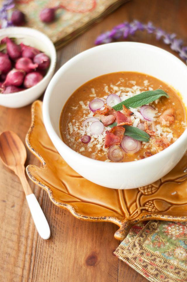 Marshalls Abroad: Pumpkin Soup with Nutmeg, Gorgonzola, Shallots ...