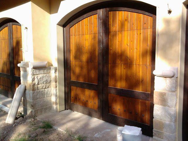 Wood Door Projects Completed by Cedar Park Overhead Doors ...