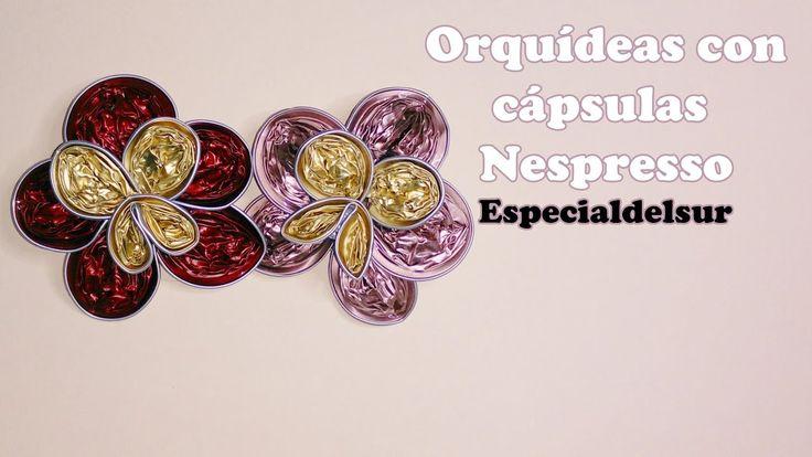 Orquídeas con cápsulas Nespresso - TUTORIAL