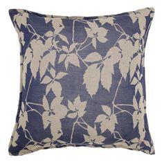 cushion classic blue floral 60x60cm