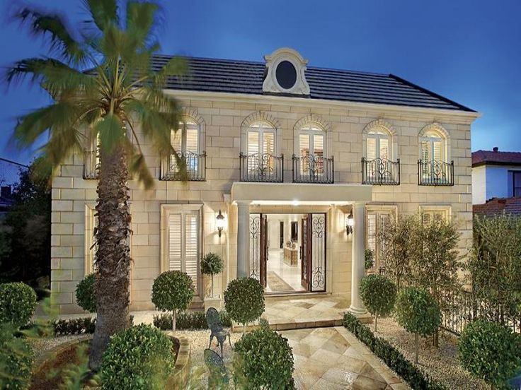 french chateau homes photos   Here are features of the French Provincial house style House Plan ...