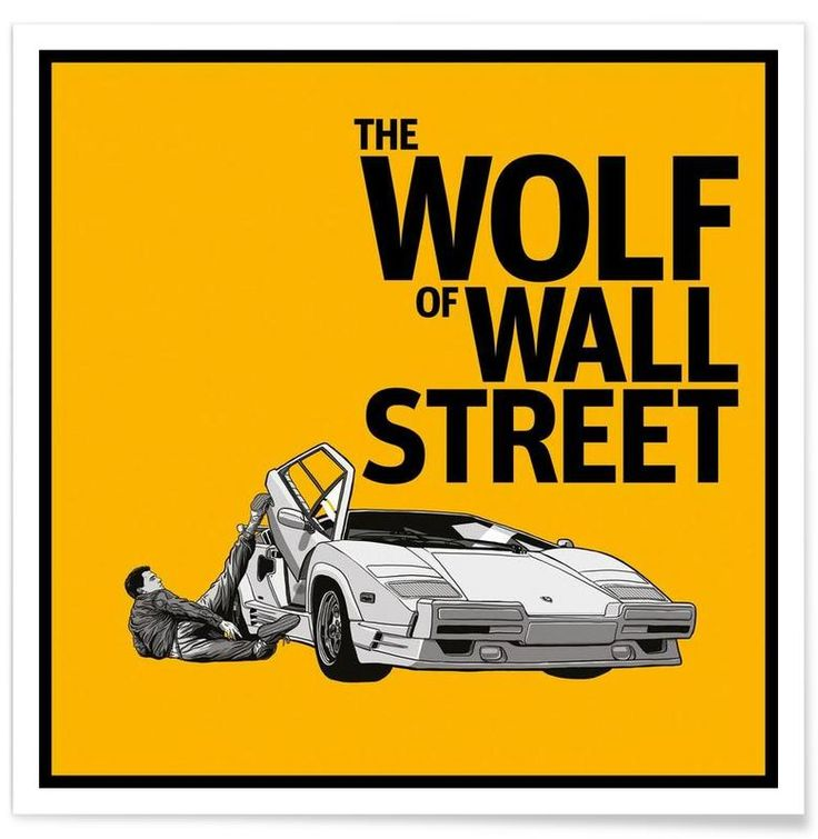 The Wolf of Wall Street as Premium Poster by Federico Mancosu   JUNIQE