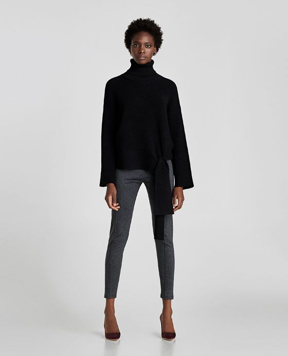 ZARA - NEW COLLECTION - CHECKED LEGGINGS