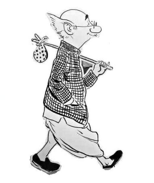 Laxman's common man who has witnessed every change in society and has survived every upheaval - political and social!  Hail the common man!