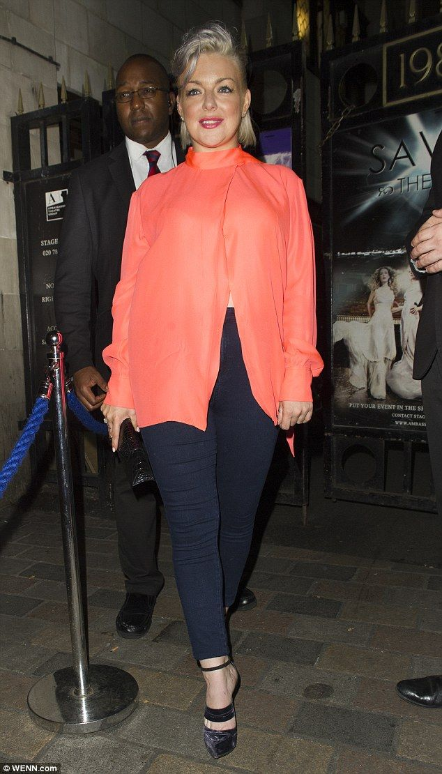 Here she comes! Sheridan Smith, 35, couldn't look giddier as she left her…