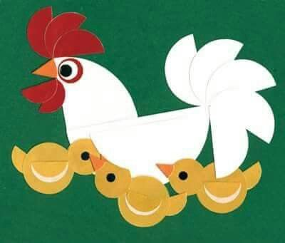 Kern 1 - KIP || Moeder kip met haar jongen....allemaal rondjes!