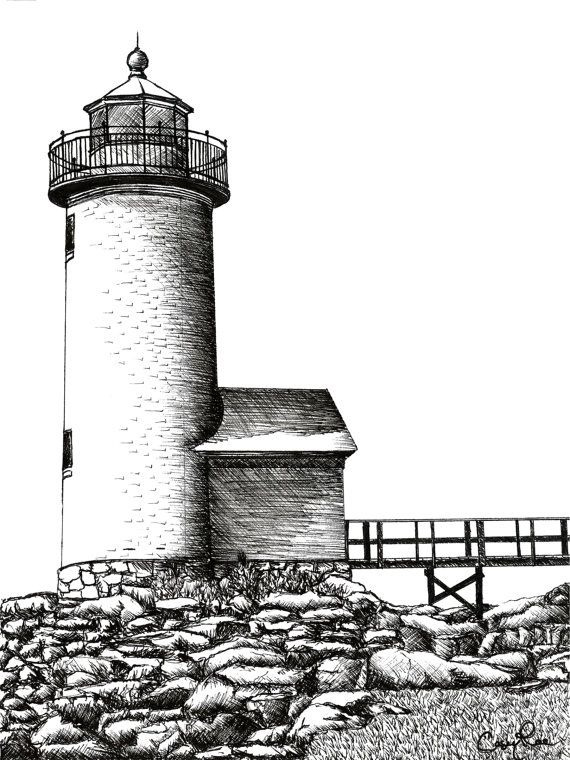 Lighthouse Line Art : Ideas about lighthouse drawing on pinterest