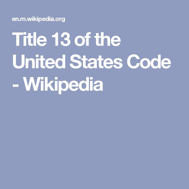 Title 13 of the United States Code - Wikipedia