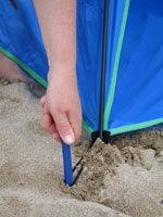 Opening sequence Shelta Beach Tent from Sunproof UK. Tent pegs supplied for use & 20 best Sunproof UV beach tents and beach umbrellas by Shelta ...