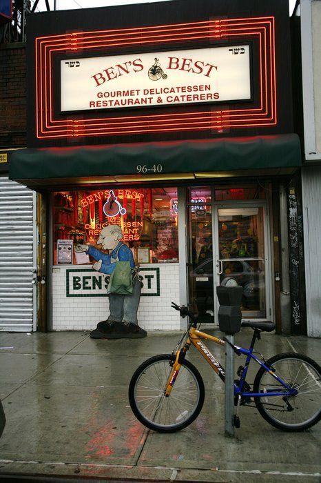 Ben's Best Kosher Delicatessen 96-40 Queens Blvd Rego Park exit 19 LIE, south of LIE - DDD - stuffed cabbage, mushroom barley soup, kreplach.